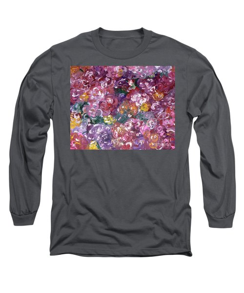 Long Sleeve T-Shirt featuring the painting Rose Festival by Alys Caviness-Gober