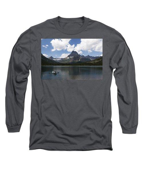 Rowboat At Many Glacier Long Sleeve T-Shirt