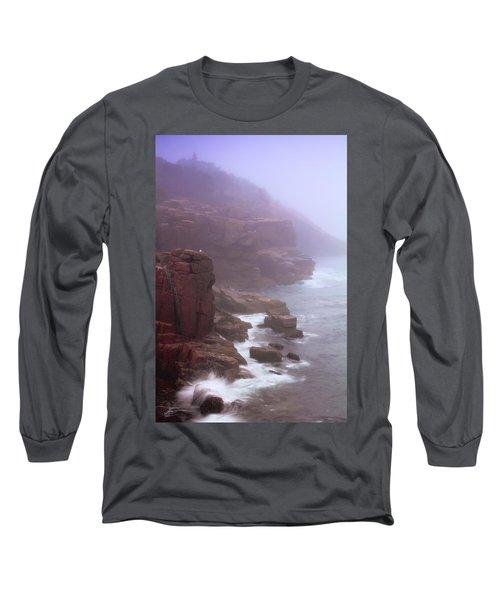 Rugged Seacoast In Mist Long Sleeve T-Shirt