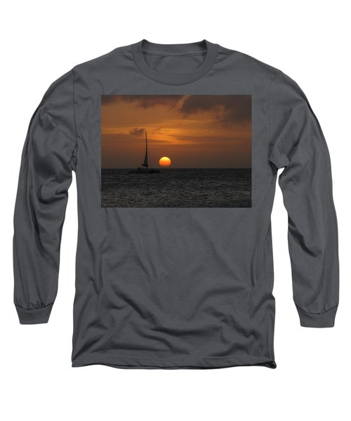 Long Sleeve T-Shirt featuring the photograph Sailing Away by David Gleeson