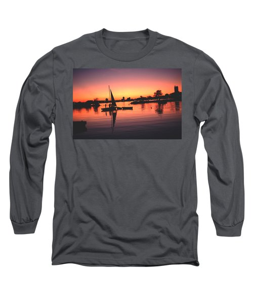 Sailing End Of The Day Backbay  Boston Long Sleeve T-Shirt