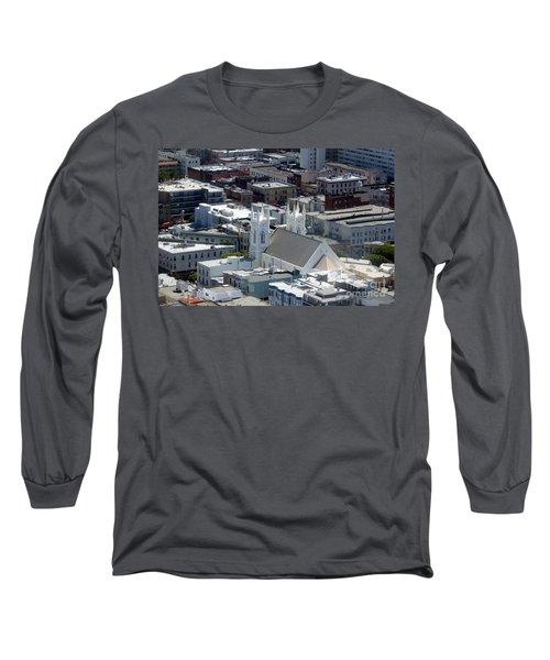 San Francisco St Francis Of Assisi Church Long Sleeve T-Shirt by Henrik Lehnerer