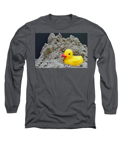 Sand Pile And Ducky Long Sleeve T-Shirt by Randy J Heath
