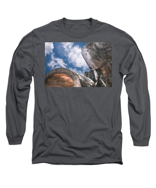 Long Sleeve T-Shirt featuring the photograph Sculpture And Sky by Tom Gort