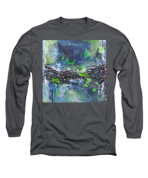 Long Sleeve T-Shirt featuring the painting Sea World by Nicole Nadeau
