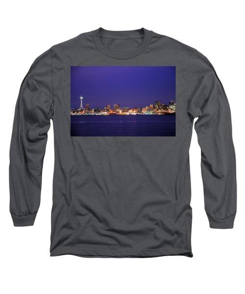 Seattle At Dusk Long Sleeve T-Shirt