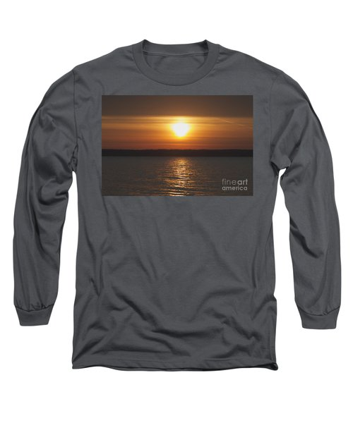 Long Sleeve T-Shirt featuring the photograph Seneca Lake Sunrise by William Norton
