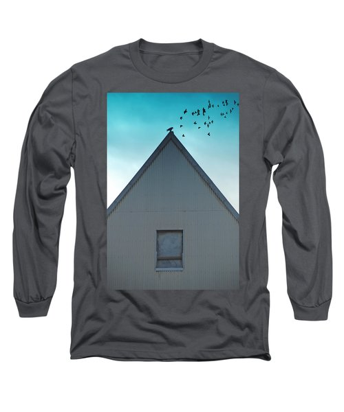 Long Sleeve T-Shirt featuring the photograph Sitting On The Peak by Kathleen Grace