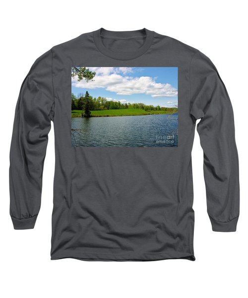 Long Sleeve T-Shirt featuring the photograph Sky And Water Almost Meet by Sherman Perry