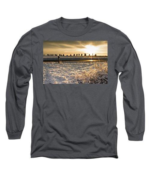 Snowy Sunrise Long Sleeve T-Shirt