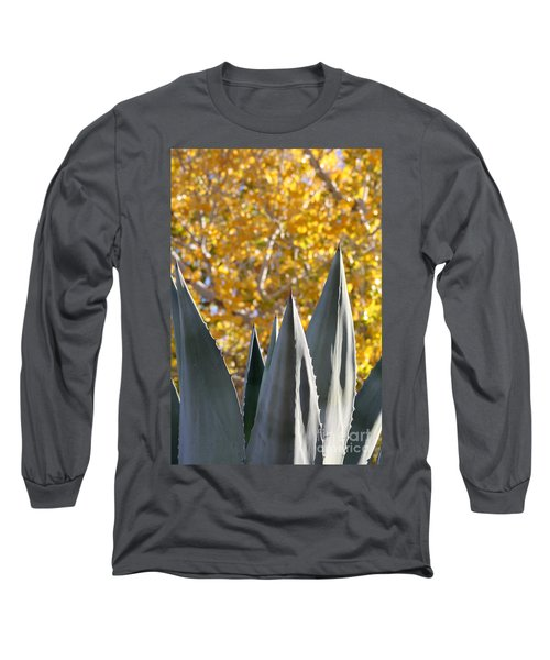 Spikes And Leaves Long Sleeve T-Shirt by Alycia Christine