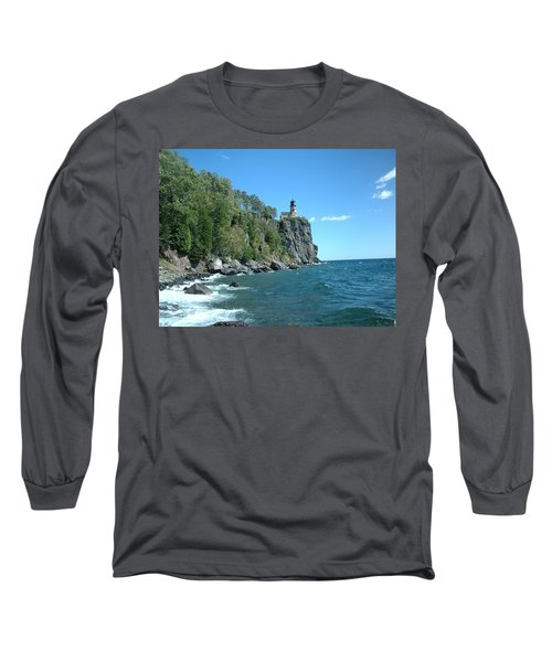 Long Sleeve T-Shirt featuring the photograph Split Rock by Bonfire Photography