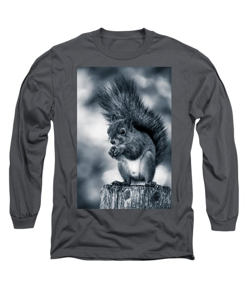Squirrel In Monochrome Long Sleeve T-Shirt