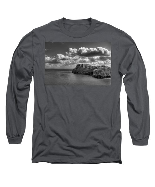 Long Sleeve T-Shirt featuring the photograph St Catherines Rock Tenby by Steve Purnell