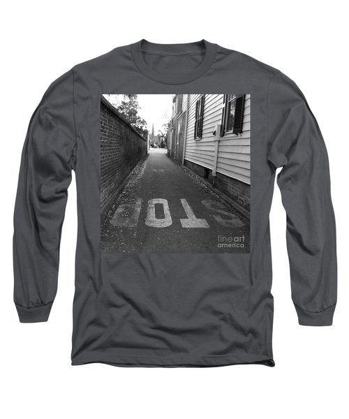 Long Sleeve T-Shirt featuring the photograph Stop by Andrea Anderegg
