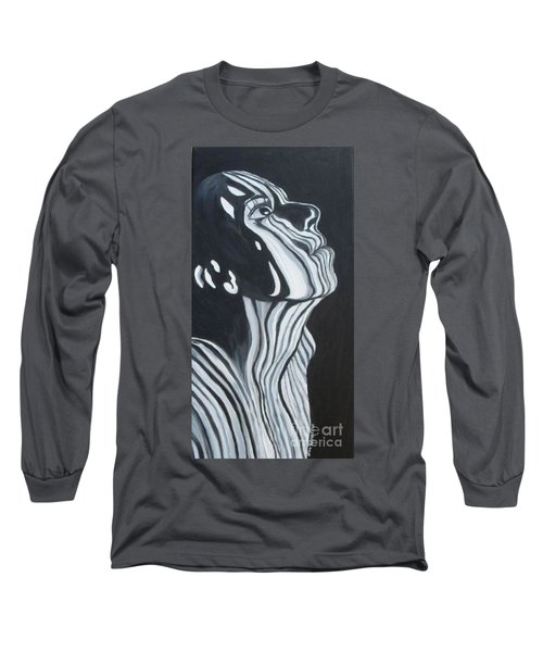 Long Sleeve T-Shirt featuring the painting Stripes by Julie Brugh Riffey