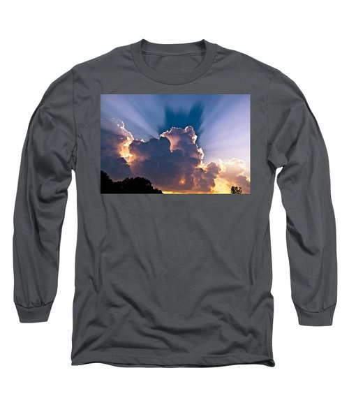 Sun Rays And Clouds Long Sleeve T-Shirt