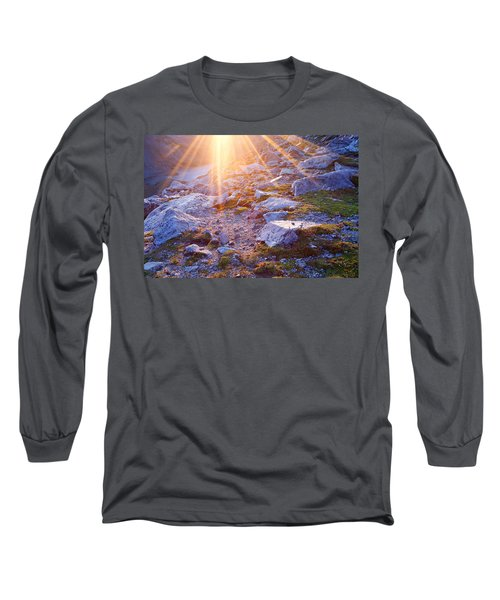 Long Sleeve T-Shirt featuring the photograph Sunburst Over Abyss Lake by Jim Garrison