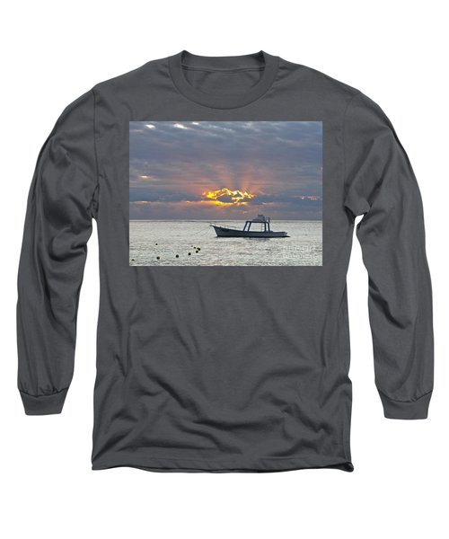 Long Sleeve T-Shirt featuring the photograph Sunrise - Puerto Morelos by Sean Griffin