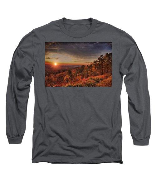 Sunrise 2-talimena Scenic Drive Arkansas Long Sleeve T-Shirt