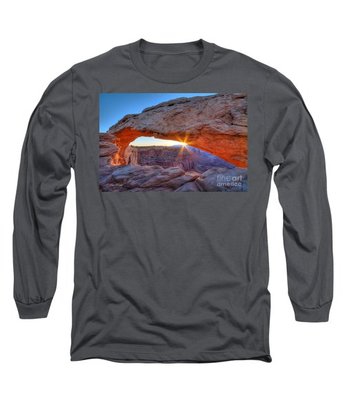 Sunrise At Mesa Arch Long Sleeve T-Shirt