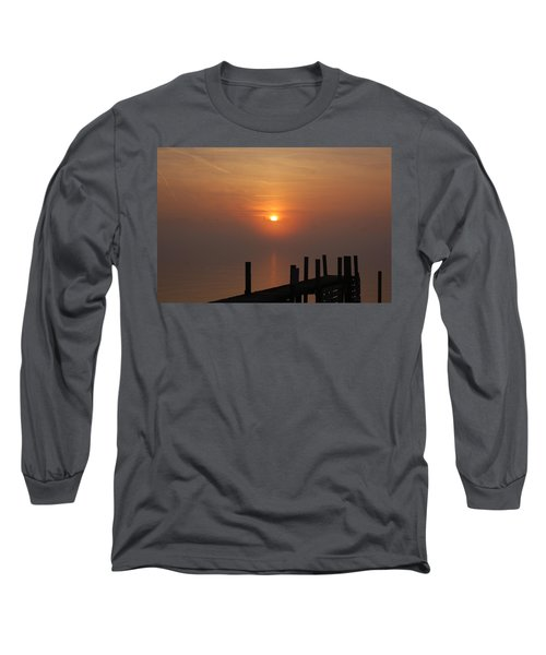 Sunrise On The River Long Sleeve T-Shirt by Randy J Heath