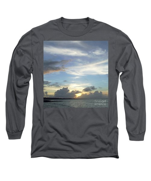 Long Sleeve T-Shirt featuring the photograph Sunset In Majuro by Andrea Anderegg
