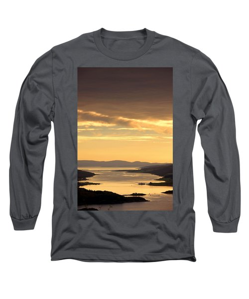 Sunset Over Water, Argyll And Bute Long Sleeve T-Shirt