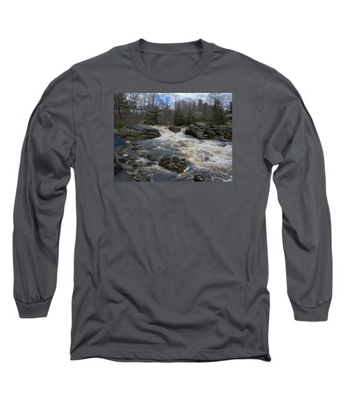 Long Sleeve T-Shirt featuring the photograph Surry Falls by Francine Frank