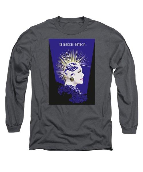 Elizabeth Taylor Draw Long Sleeve T-Shirt by Quim Abella