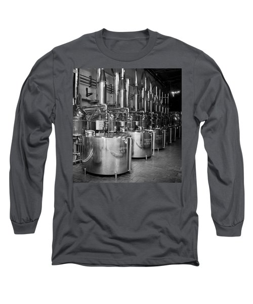 Long Sleeve T-Shirt featuring the photograph Tequilera S.s. Distillation Tanks by Lynn Palmer