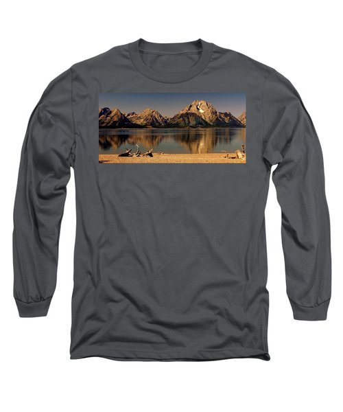 Long Sleeve T-Shirt featuring the photograph Teton Panoramic by Marty Koch