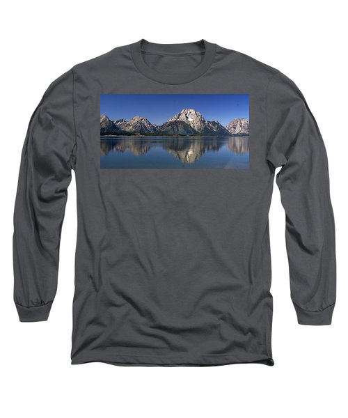 Long Sleeve T-Shirt featuring the photograph Teton Panoramic View by Marty Koch