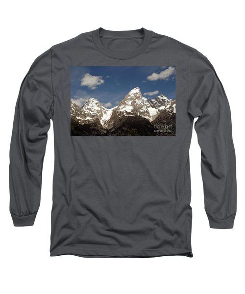 Teton Tips Long Sleeve T-Shirt by Living Color Photography Lorraine Lynch