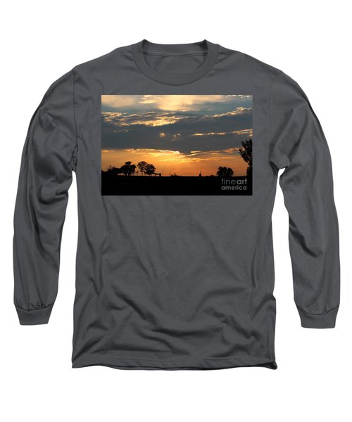 Long Sleeve T-Shirt featuring the photograph Texas Sized Sunset by Kathy  White