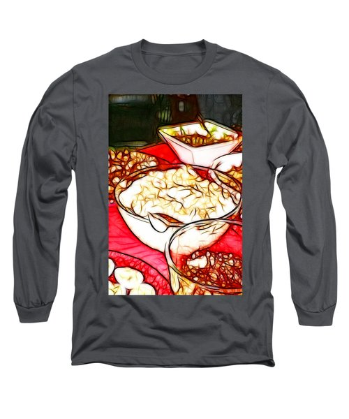 Thankful For Mamas Cooking Long Sleeve T-Shirt