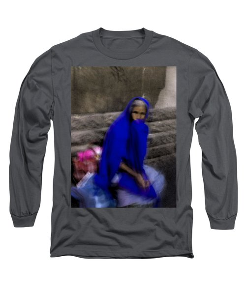 Long Sleeve T-Shirt featuring the photograph The Blue Shawl by Lynn Palmer