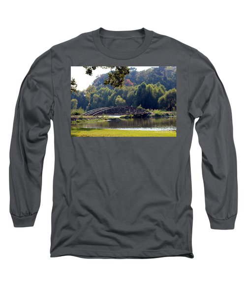 Long Sleeve T-Shirt featuring the photograph The Bridge by Kathy  White