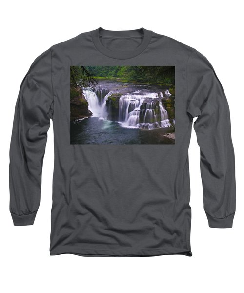 Long Sleeve T-Shirt featuring the photograph The Falls by David Gleeson