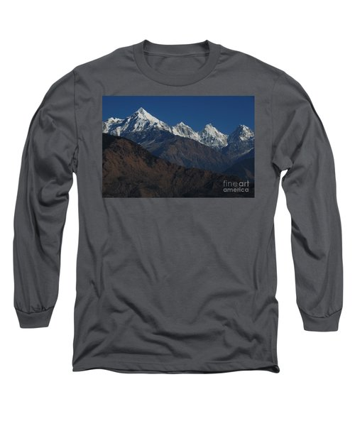Long Sleeve T-Shirt featuring the photograph The Panchchuli Range by Fotosas Photography