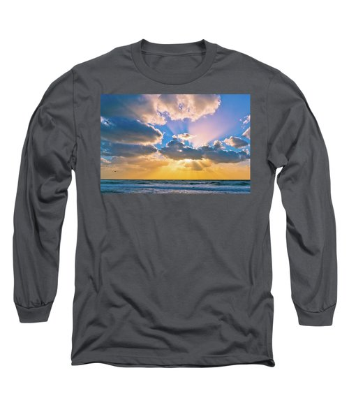 The Sea In The Sunset Long Sleeve T-Shirt