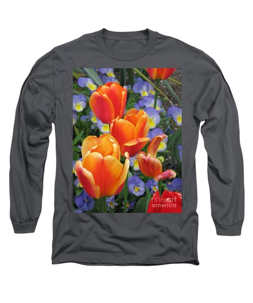 The Secret Life Of Tulips - 2 Long Sleeve T-Shirt by Rory Sagner