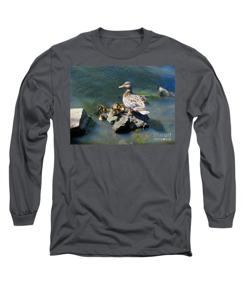 The Swimming Lesson Long Sleeve T-Shirt by Rory Sagner