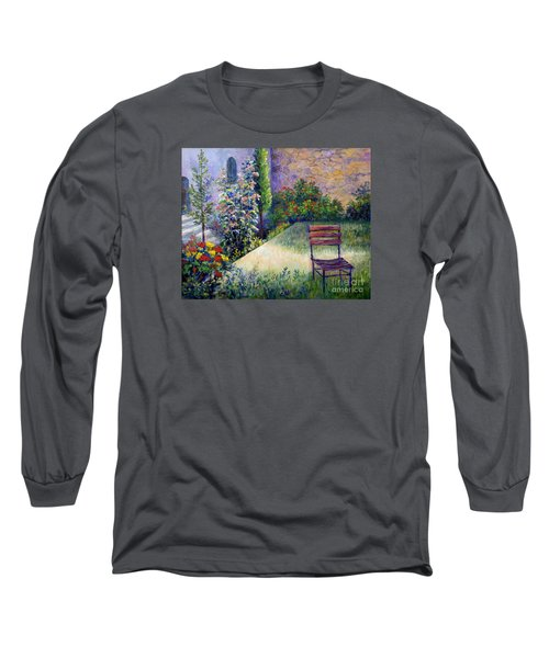 Long Sleeve T-Shirt featuring the painting The Unseen Guest by Lou Ann Bagnall