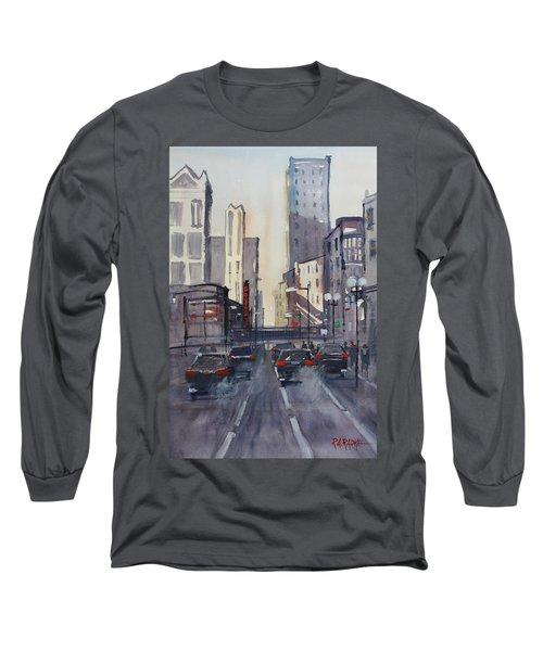 Theatre District - Chicago Long Sleeve T-Shirt by Ryan Radke