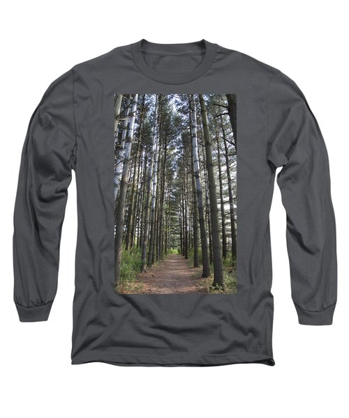 Long Sleeve T-Shirt featuring the photograph Through The Woods by Jeannette Hunt
