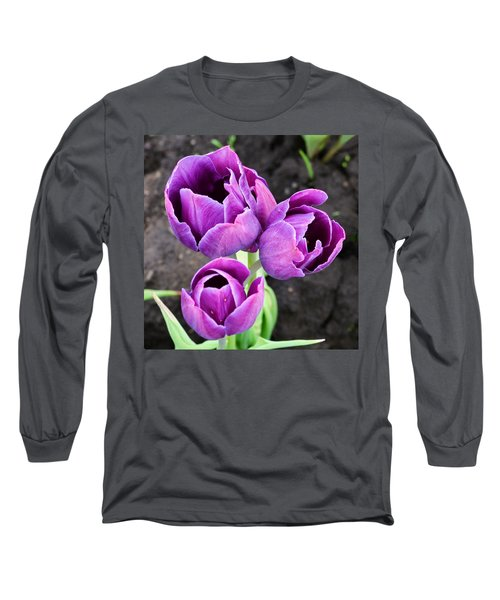 Tulips Queen Of The Night Long Sleeve T-Shirt