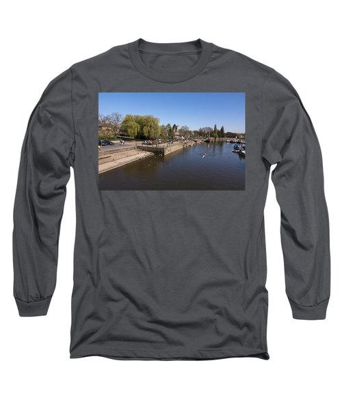 Long Sleeve T-Shirt featuring the photograph Twickenham On Thames by Maj Seda