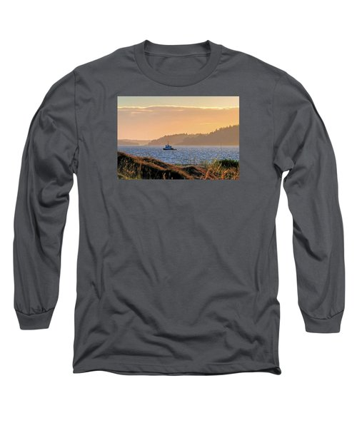 Twilight Tug -chambers Bay Golf Course Long Sleeve T-Shirt by Chris Anderson