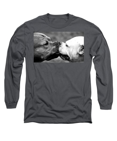 Two Dogs Kissing Long Sleeve T-Shirt